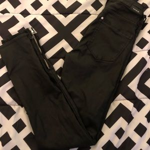 SIZE- 24 H&M Leather textured jeans